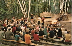 Children's Story Hour at the campfire - Silver Bay Association(YMCA), NY on Lake George