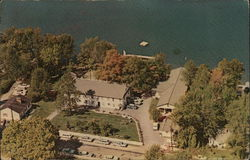 Air View of a Part of Letourneau Christian Camp Postcard