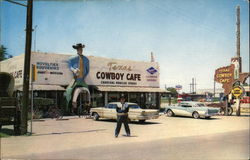 Texas Cowboy Cafe Postcard