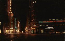 Seventh Street at Night Postcard