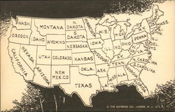 Vintage Map of the U.S. (48 States)