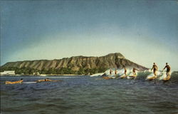 Union Oil Company's Natural Color Scenes of Hawaii - Surf Riding