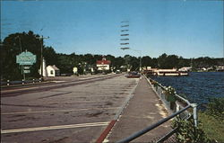 Naples Causeway on Route 302, Sebago Long Lake Postcard