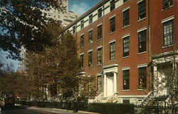 Greenwich Village nineteenth-century Greek Revival homes. Postcard
