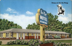 Bo-Peep Motel, Highway 45E in city limits Postcard