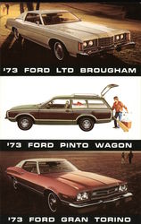 '73 Ford LTD Brouham, '73 Ford Pinto Wagon and '73 Ford Gran Torino