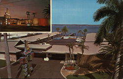 Ta Ki-Ki Motel, Fort Myers, Florida (2 views 1 at night 1 day)