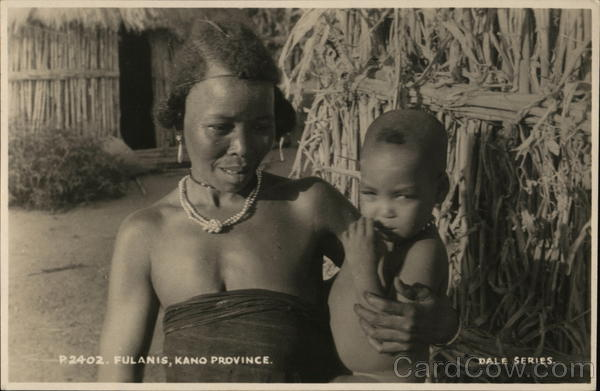 Fulani Woman and Child in the province of Kano in Nigeria Africa
