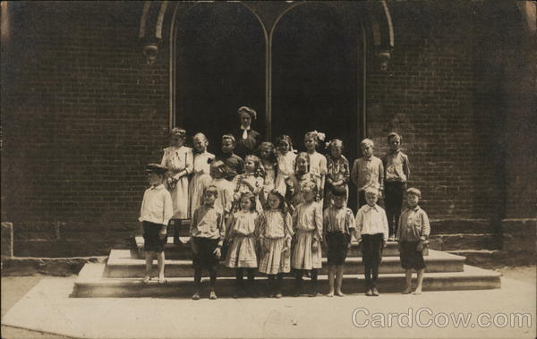 Photo of Schoolchildren and Teacher School and Class Photos