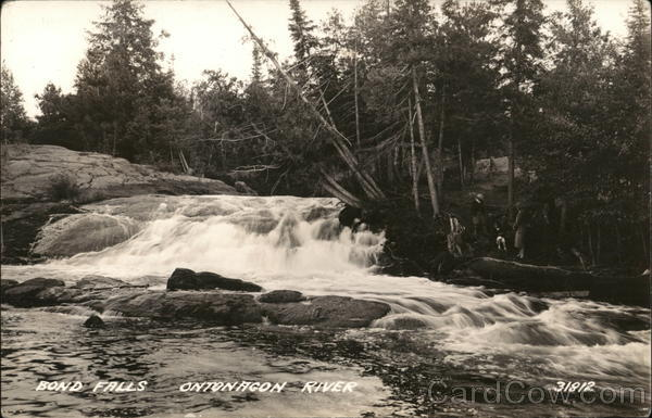 Bond Falls on the ontonagon River Trout Creek Michigan