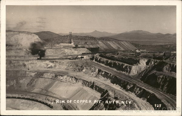 Rim of Copper Pit Ruth Nevada Mining