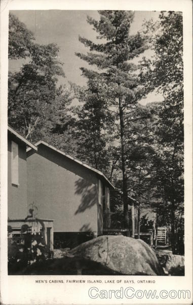 Men's Cabins, Fairview Island, Lake of Bays, Ontario Canada