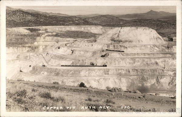 Copper Pit Ruth Nevada Mining
