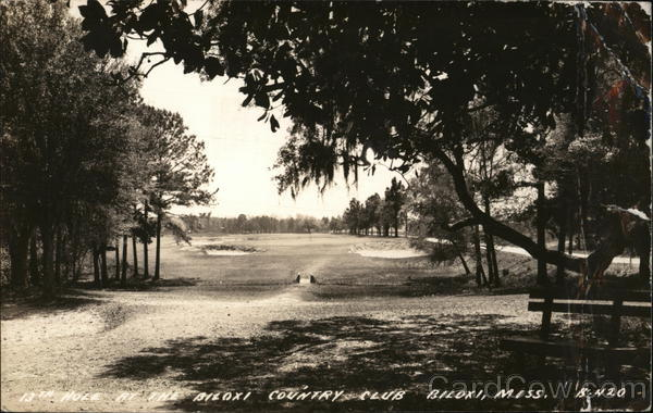 13th. hole at the Biloxi Country Club, Biloxi, Miss. Mississippi