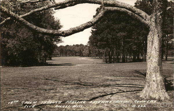 19th Green through practice Fairway = Biloxi Country Club Mississippi
