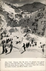 Famous Alta Ski Area, Collin's Gulch and Mount Baldy