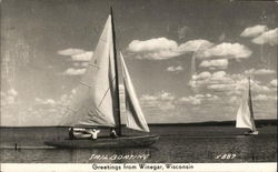 Sail Boating - Greetings from Winegar, Wisconsin