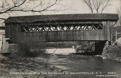 Covered Bridge in the Catskills at Halcottsville, N.Y.