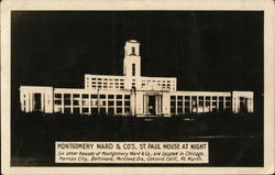 Montgomery Ward & Co's, St. Paul House at Night