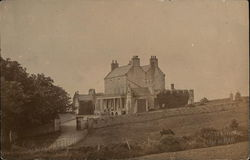 View of a large home - Castle town, Isle of Man early 1900's