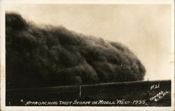 Approaching Dust Storm in Middle West - 1935 #21 - Conard C.C.KS.