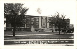 Mens Hall Chadron State Teachers College Postcard
