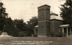 Monument And Library Of Gen. Lew Wallace Postcard