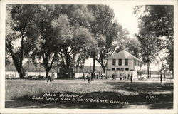 Gull Lake Bible Conference - Baseball Diamond Circa 1950 Postcard