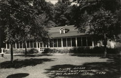 Methodist Campgrounds, View Of Dining Room Postcard