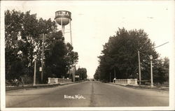Water Tower And Main Road In Alma