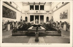 Detroit Institute of Arts - The Court Postcard