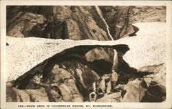Snow arch in Tuckermans Ravine