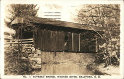 Covered Bridge Over The Warner River