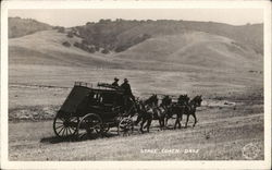 Stage Coach Days Stage Coach Travels on an unpaved road in a meadow
