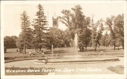 Iowa State College - Memorial Union Fountain