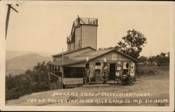 Yonker's Store and Observation Tower - Top of Polish Mountain