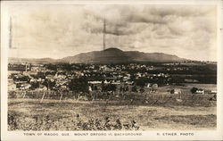 Town With Mount Orford in Background Postcard