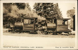 Train at Portage, Peninsula Lake