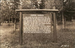 Copper Harbor - Founding sign