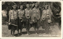 Hula Dancers and Gourd Girls