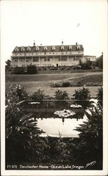 Dorchester House, View of House and Water Garden, Ocean Lake