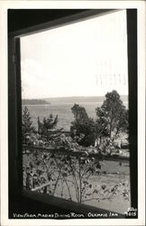 View From Marine Dining Room, Olympic Inn Postcard