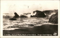 Surf and Rocks Postcard
