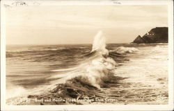 Surf and Heceta Head from Sea Lion Caves