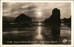 Sunset at Bandon-by-the-Sea Postcard