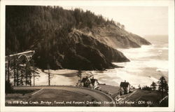 Cape Creek Bridge, Tunnel and Keepers Dwellings, Heceta Light House