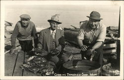 Three Men Cooking Dungeness Crabs
