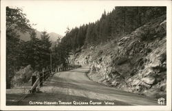 Olympic Highway Through Quilcene Canyon