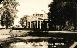 A view of the front of Monticello