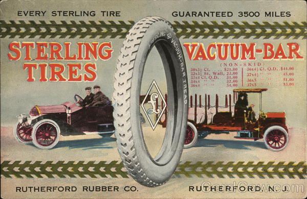 Sterling Tires / Rutherford Rubber Co. New Jersey Advertising